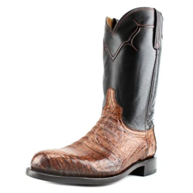 f53361b2c50 Lucchese Men's Dustin Belly Caiman Roper Boot Round Toe Sienna 10 EE ...
