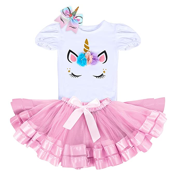 8e86ea772 FYMNSI Unicorn 1st Birthday Outfit Baby Girl First Birthday Party ...