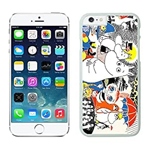 New Custom Design Cover Case For Iphone 6 Moomin iphone 6 White 4.7 TPU inch Phone Case 296 by ruishername
