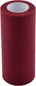 uxcell Polyester Wedding Party Gift Box DIY Decor Tulle Spool Roll 6 Inch x 25 Yards Burgundy