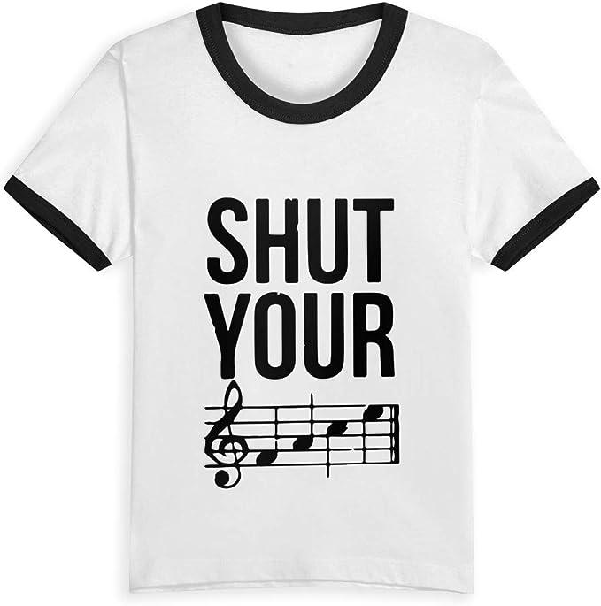 Queen Elena Camiseta de algodón con Estampado de Dibujos Animados para niños de 2 a 6 años, Color contrastante Negro Negro (3 años: Amazon.es: Ropa y accesorios