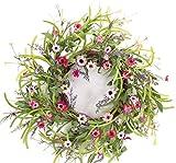 Pack of 4 Decorative Springtime Wild Flower Bloom Wreath