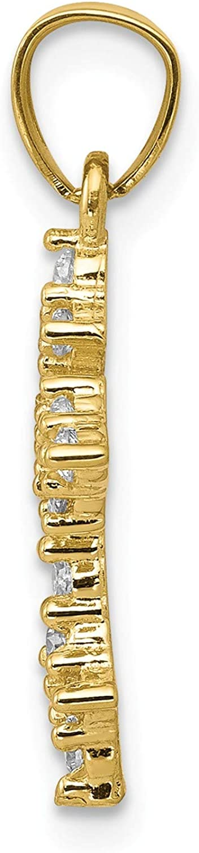 10k Yellow Gold 10k CZ Passion Cross Pendant