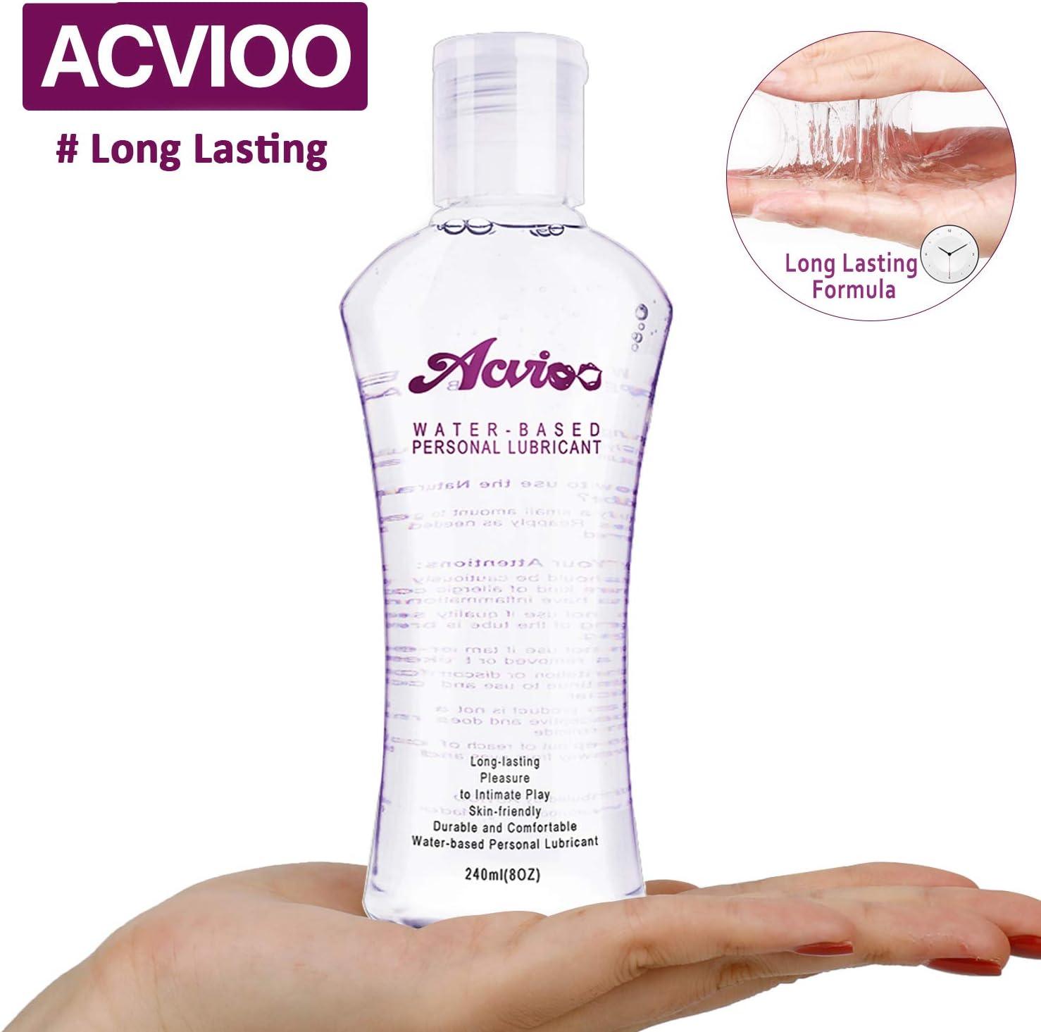 ACVIOO Gel Lubricante Anal Íntimo a Base de Agua Lubricantes Sexuales Natural a Larga Duración Sin Paraben Fragancia - 240ml