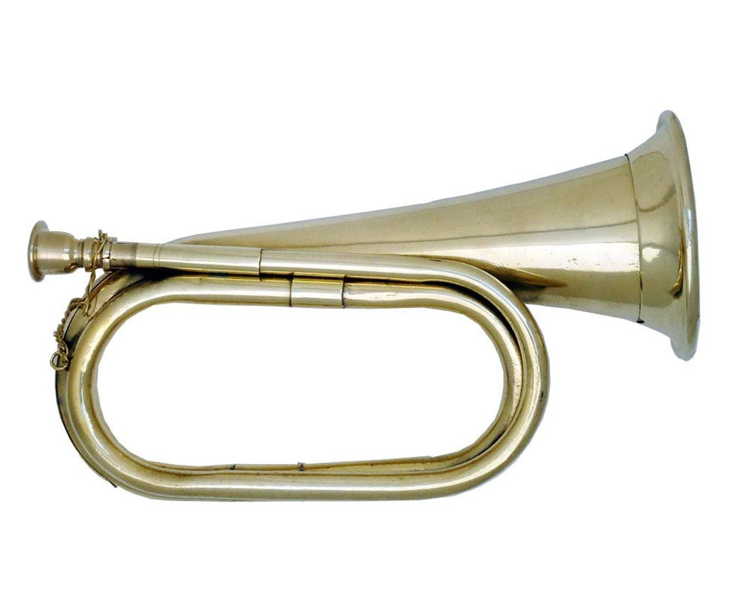 Global Art World New Made Of Solid Brass Stylish Civil War Era Bugle US Military Cavalry Horn MI 01
