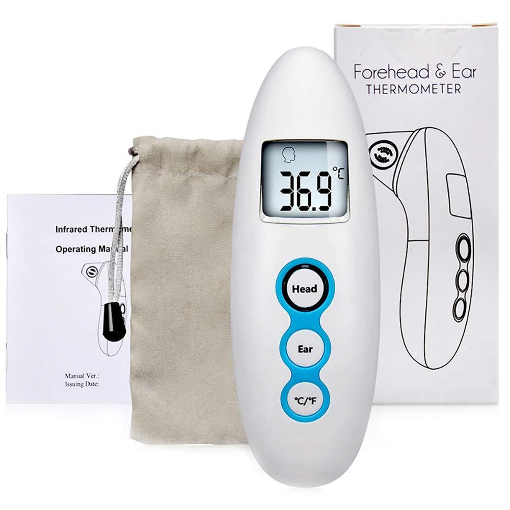Blau Fieberthermometer Stirnthermometer Fieberthermometer f/ür Babys Kinder und Erwachsene Digital Infrarot Medical Stirn und Ohrthermometer f/ür Babys Erwachsene und Objekte