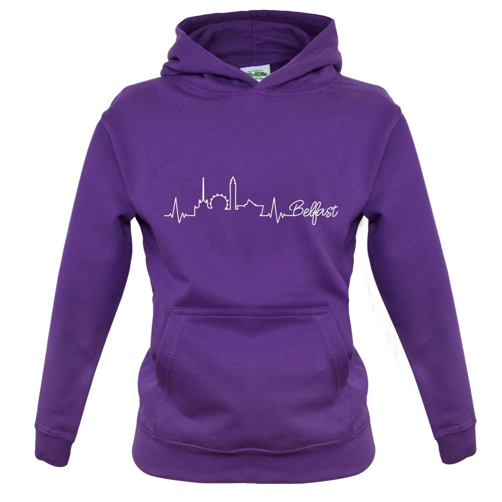 Childrens//Kids Hoodie Dressdown Belfast Heartbeat Ages 1-13 Years