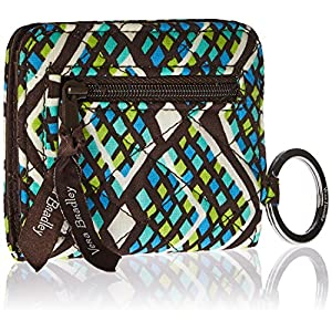 Vera Bradley Womens' Campus Double ID Holder, Rain Forest, One Size