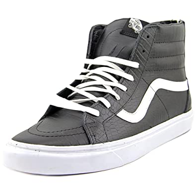Vans Mens Sk8 Hi Zip CA (Croc Leather) Black VN 0XH9FCQ 12