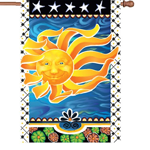 Premier 52437 House Brilliance Flag, Radiant Sun, 28 by 40-Inch -