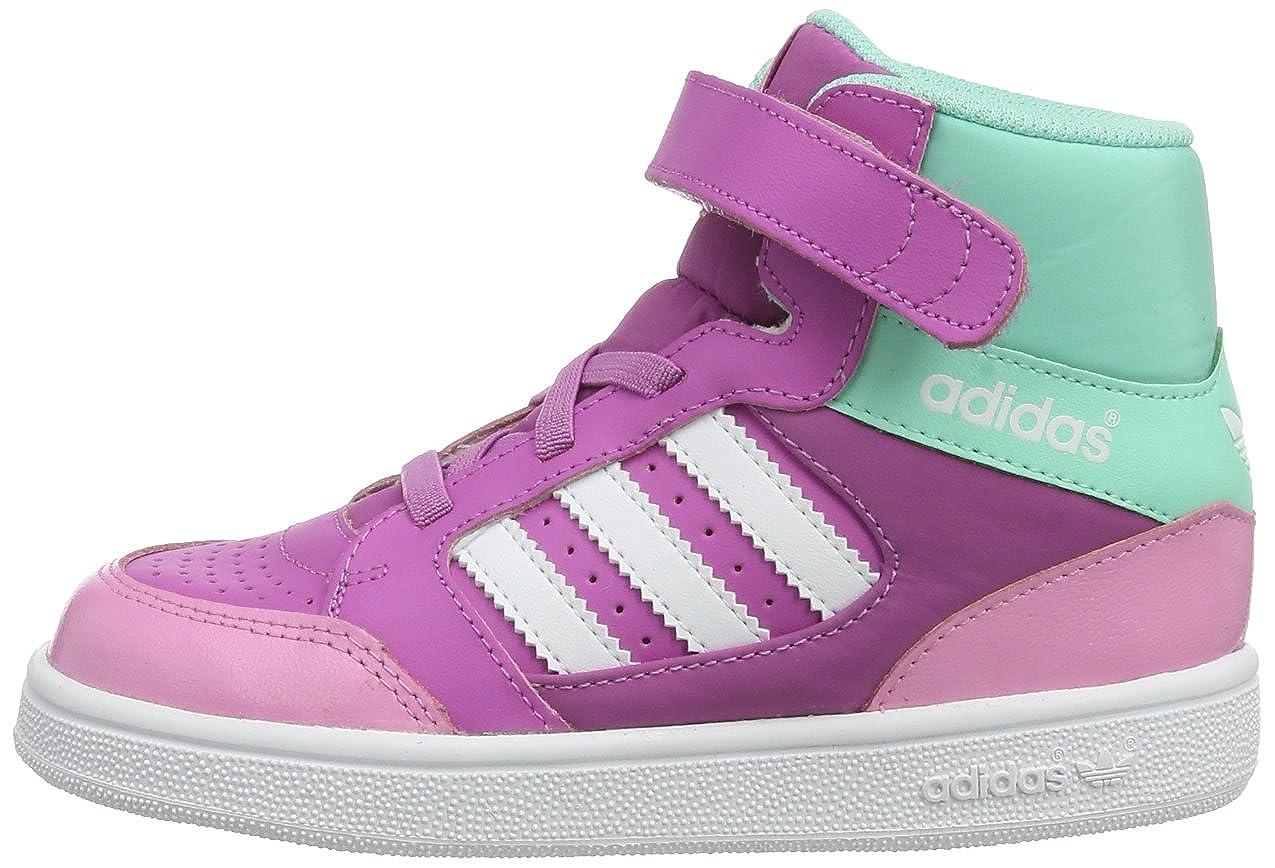 adidas Pro Play CF I-0, Botines Unisex, para ni&ntildeos, Rosa-Joy Orchid/Running White FTW/Bahia Mint, 39 1/3 EU: Amazon.es: Zapatos y complementos