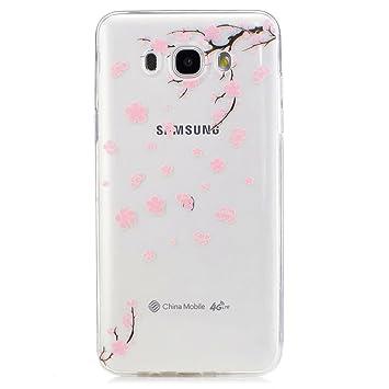 Funda Carcasa Transparente para Samsung Galaxy J7(2016)J710 Caso TPU gel de silicona goma suave Cubierta parachoques Funda protectora de Silicona caso ...
