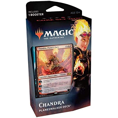 Magic The Gathering: MTG: Core Set 2020 Planeswalker Deck - Chandra w/Booster Pack (Red): Toys & Games
