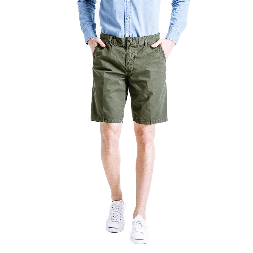 MADHERO Men's Slim Fit Cotton Twill Flat Front Chino Shorts 6-WGFHGS3261