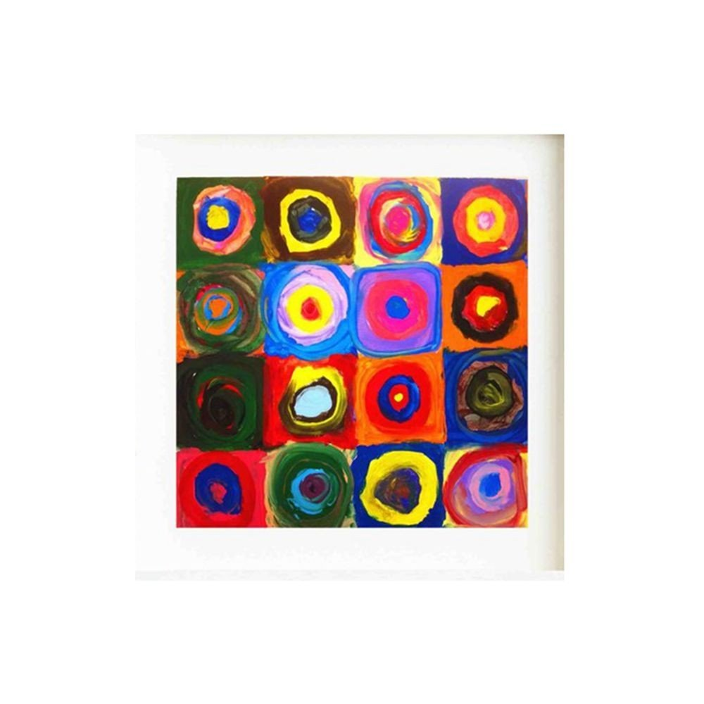 TTKX@@ Kids Circle Artwork Canvas Art Cartel De La Pintura Imágenes ...