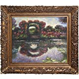 overstockArt Monet Blutentore en Giverny Canvas Art, Burgeon Gold Frame / Acabado