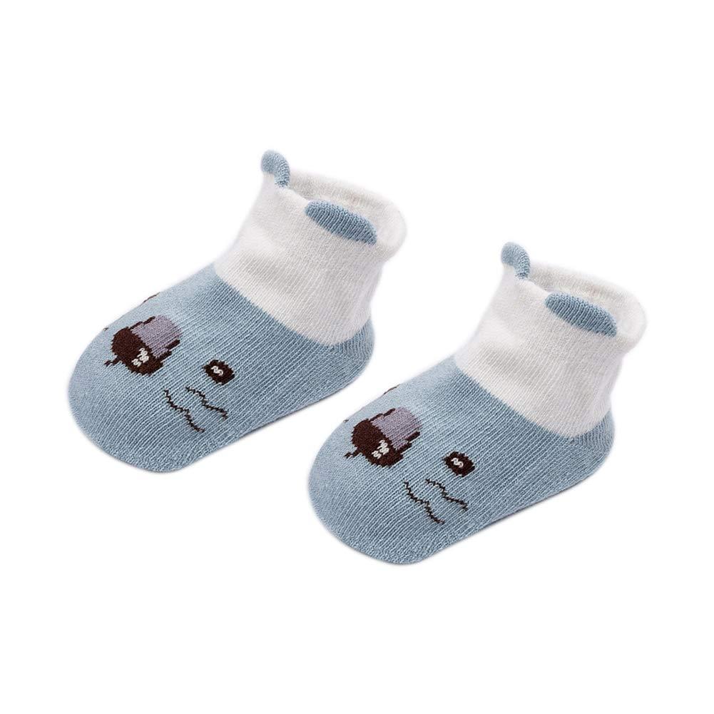 Vommpe Chaussettes Chaudes pour bébé Nouveau-né Chaussettes Motif Animaux Mignons, Pink S, 0-2 Years