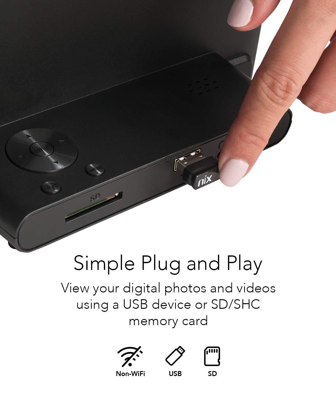 Amazon.com: NIX Advanced igital Photo & HD Video Frame, with ...