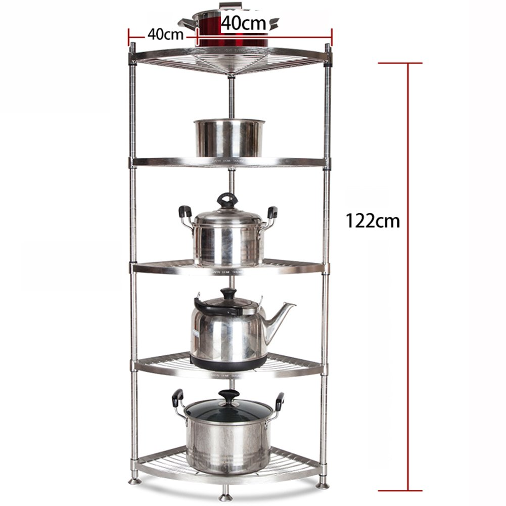 Amazon.com: 5-Tier Kitchen Corner Storage Rack Shelf Bookcase Free Standing Display Tier Shelf For Bathroom Office (Size : 35X35X122cm): Kitchen & Dining