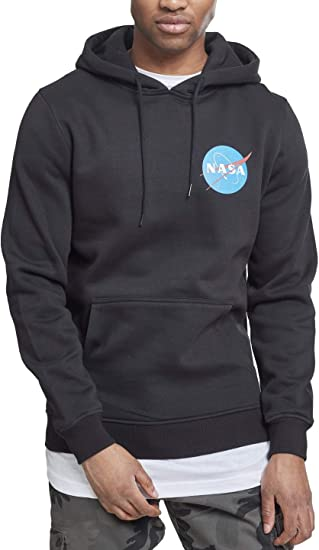 feinste Auswahl c1674 6e61c Mister Tee Herren NASA Small Insignia Hoodie - Männer Streetwear  Kapuzenpullover, Farbe Schwarz, Größe XS bis XL