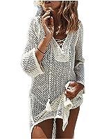 NFASHIONSO Women's Fashion Swimwear Crochet Tunic Cover up/Beach Dres