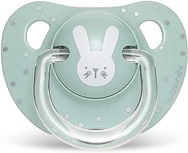 Suavinex - Chupete para bebés 0-6 meses. Chupete con tetina anatómica de silicona. 0% BPA. Color verde.: Amazon.es: Bebé