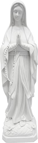 32 Inch Our Lady of Lourdes Mother Virgin Mary Statue Sculpture Figurine Vittoria Collection Made