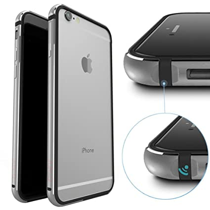 Amazon.com: junch iPhone 6s Plus Caso, aluminio metal Bumper ...