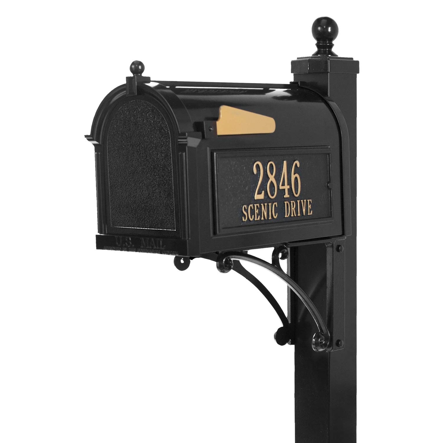 Whitehall Products Deluxe Mailbox Package - Black by Whitehall (Image #1)