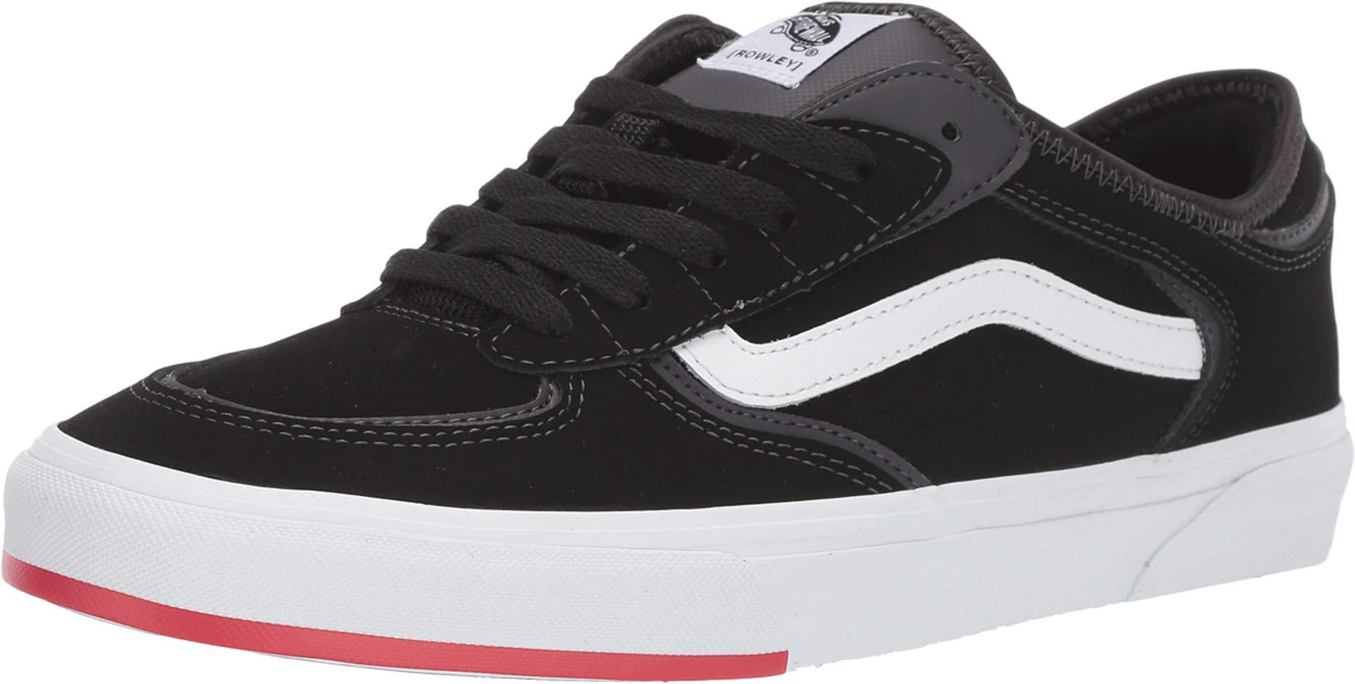 Vans Unisex Rowley Classic Skate Shoes (14.5 Women/13 Men, (66/99/19) Black Red) by Vans