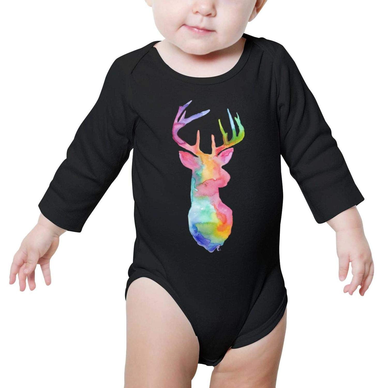 Good Vibes Deer Newborn Bodysuit Long Sleeve Natural Organic Cotton Funny