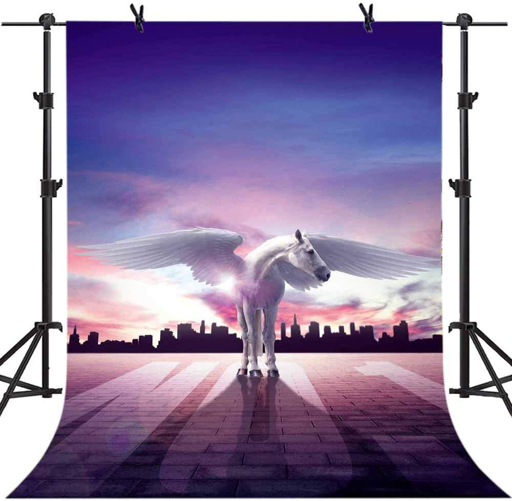 LELEZ Background for Flying Horse with Wings 5x7ft Fantasy Gorgeous Sky Fairy Tale Photography Backdrop Kids Baby Birthday Party Wallpaper Booth Backdrop Props CHE039