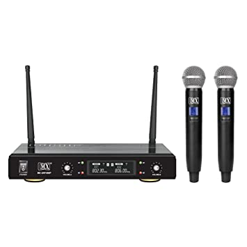 MX UHF Wireless Cordless Microphone System 2 Handheld Mic Fixed Frequency UHF400P
