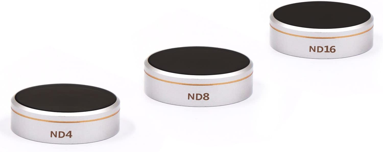 Multi-Resistant Coated Neutral Density Filter with Storage Case LENSKINS MRC ND8 Camera Lens Filter for DJI Phantom 4 Pro//Pro+//Advance AGC Optics Weather-Sealed Lens Cloth