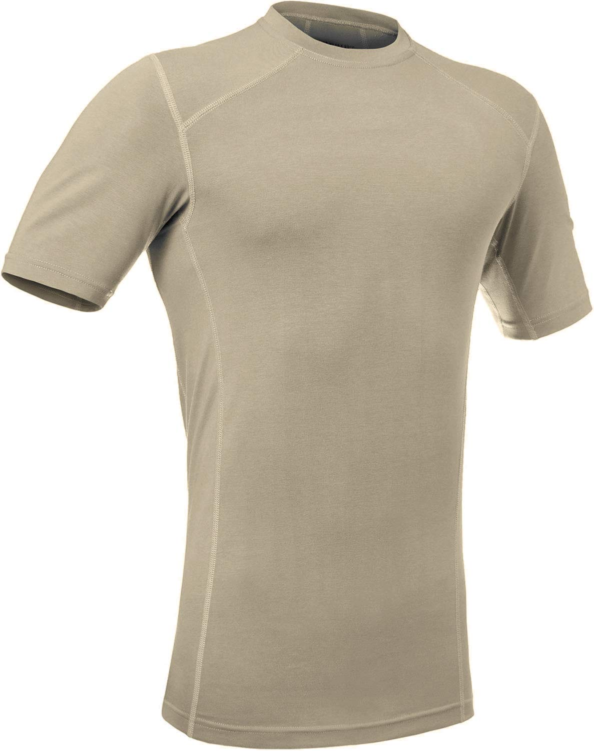 281Z Military Stretch Cotton Underwear T-Shirt - Tactical Hiking Outdoor - Punisher Combat Line (Tan, Small)