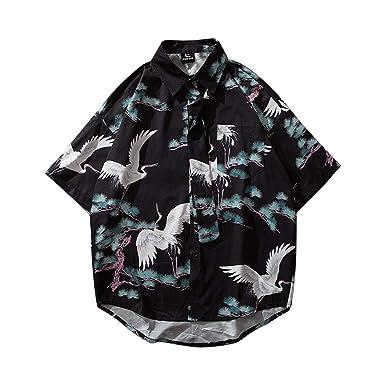 Camisas Estampadas Verano para Hombre Casual Manga Corta Tops de ...