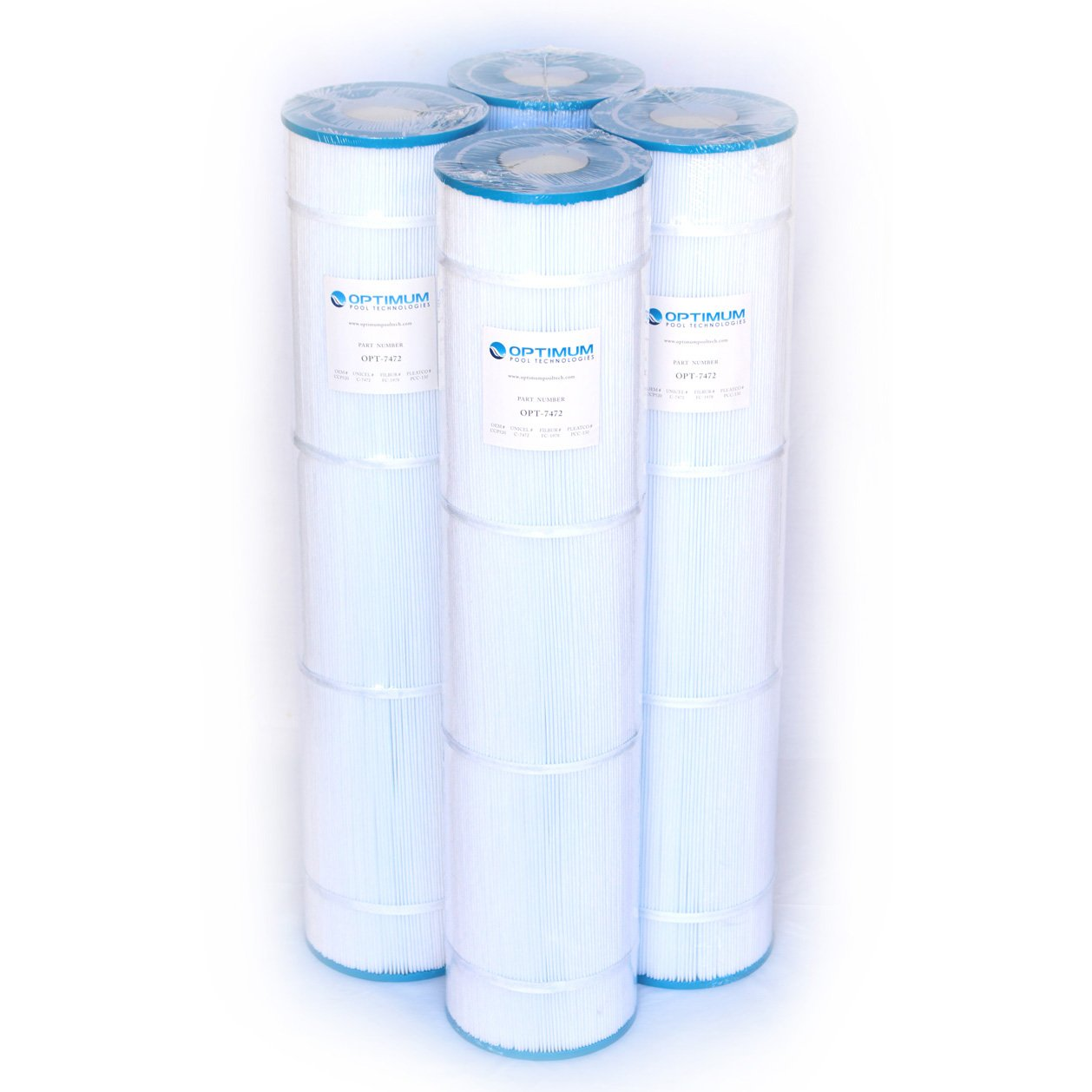 4 Pack of Clean & Clear PLUS 520; 125/130 SQ.FT. Cartridge Element