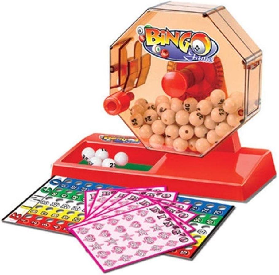 TX NIÑA Bingo Juego Bingo Lotería Automático Mini Escritorio Puzzle Juego Lucky Bingo Lotería Juguetes Educativos En Caja (Color : Multi): Amazon.es: Hogar