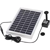 Decdeal Solar Powered Water Pump Solar Pond Pump