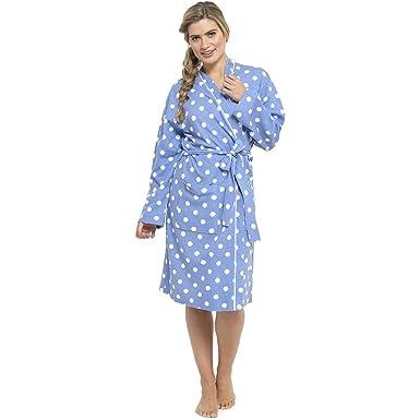 Foxbury Womens/Ladies Nightwear/Sleepwear Spot Print Waffle Bathrobe ...