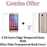 M.G.R.J Transparent Back Cover + Tempered Glass Screen Protector for Honor 5X