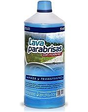 Sisbrill Lavaparabrisas Conc. 1:20 con Repelente Lluvia | Elimina Polvo e Insectos | Sin Chirridos | 1 Litro