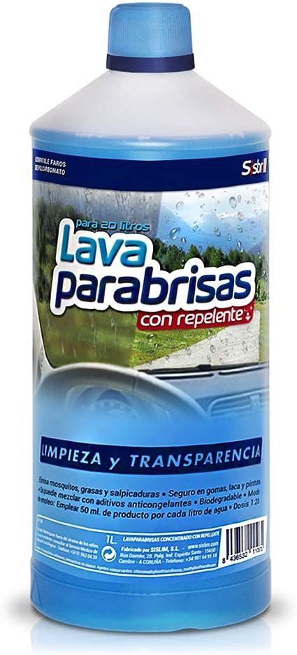 Sisbrill Lavaparabrisas Conc. 1:20 con Repelente Lluvia - Elimina ...