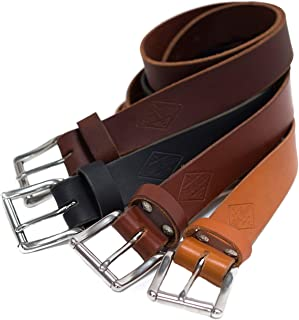 """product image for Authentic Leather Belt For Men, 1.5"""", Personalized Belt, Handmade in Arizona, Full Grain Leather"""