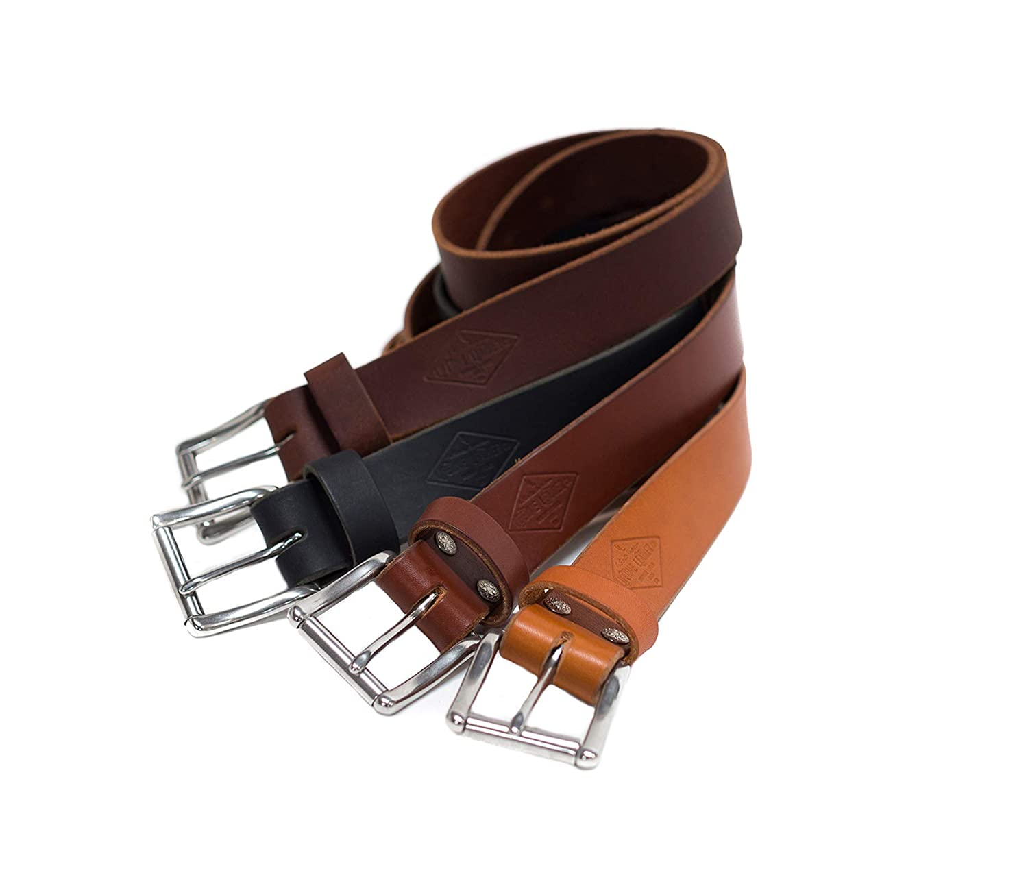 """Authentic Leather Belt For Men, 1.5"""", Personalized Belt, Handmade in Arizona, Full Grain Leather"""