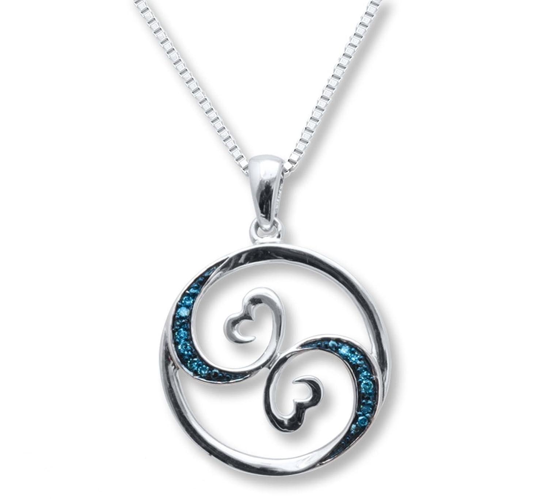 Elegant open heart diamond necklace by jane seymour best jewelry amazon jane seymour open hearts necklace blue waves arts aloadofball Images