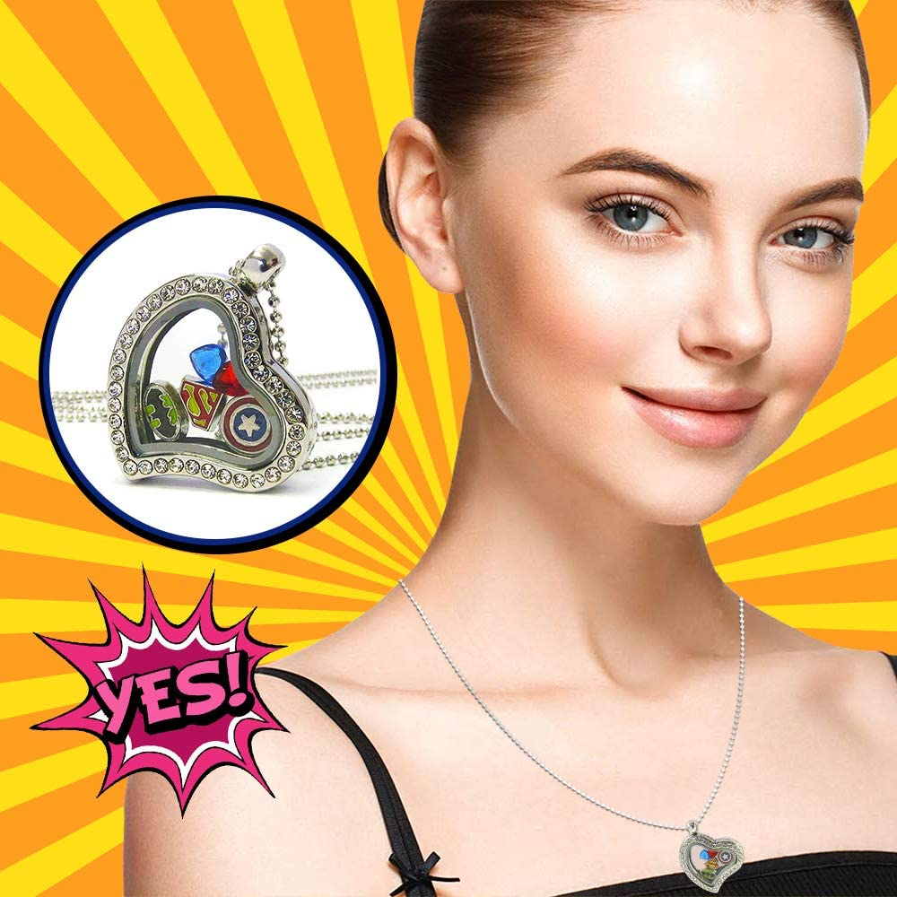 Lola Bella Gifts Crystal Superhero Theme Origami Necklace w Gift Box
