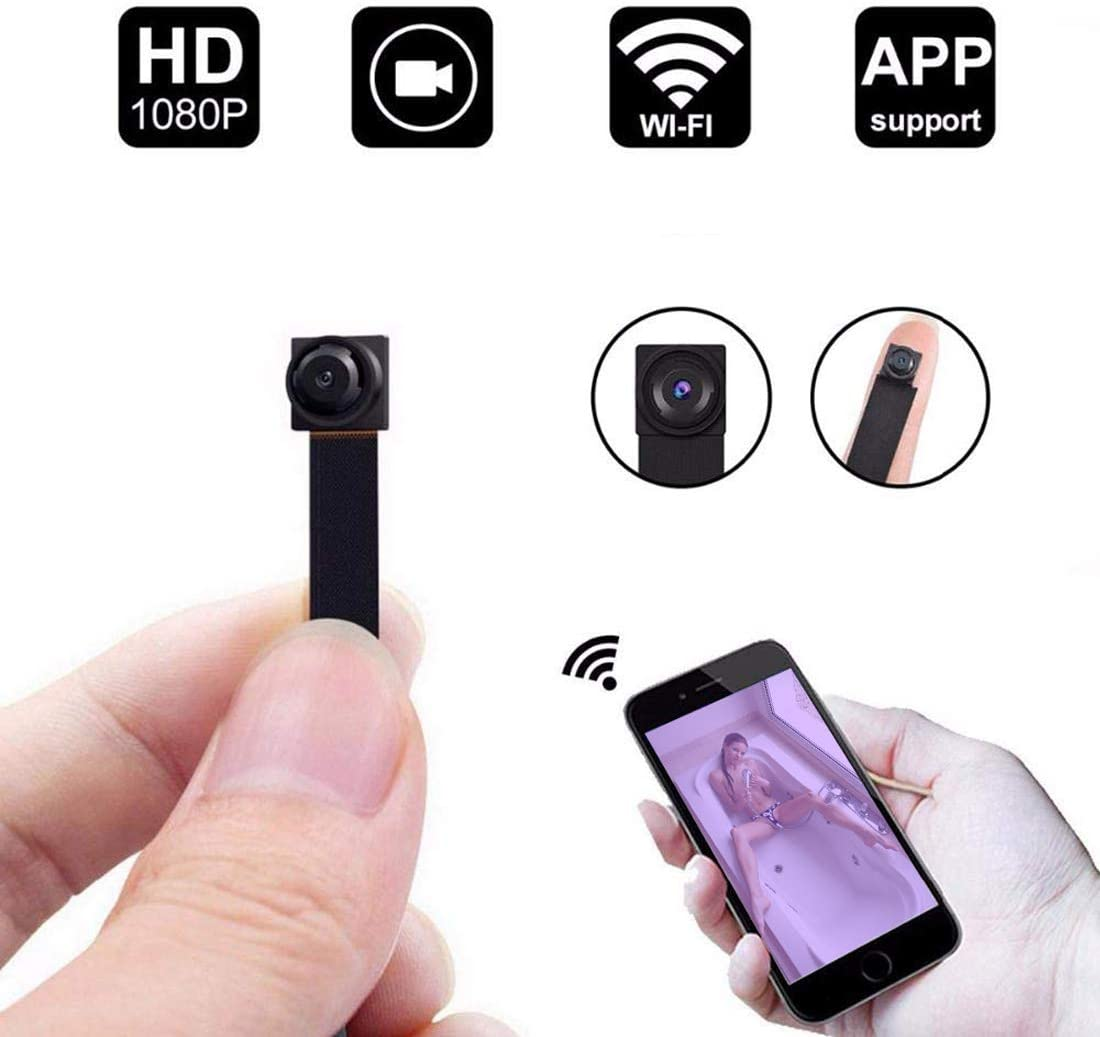 HD 1080P DIY Spy Camera Module Wireless Hidden Camera WiFi Mini/Tiny Cams Small Nanny Cameras Home Security Live Streaming Through Android/iOS App Motion Detection Alerts