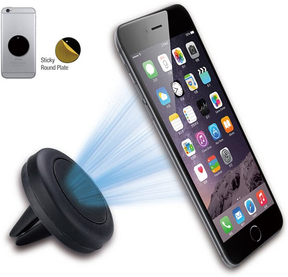 Magnetic Phone Car Mount 3 Pack Mini Strip Strong Adhesive Cell Phone Holder for Car Compatible with 4-6.7 inch Smartphone and Tablets