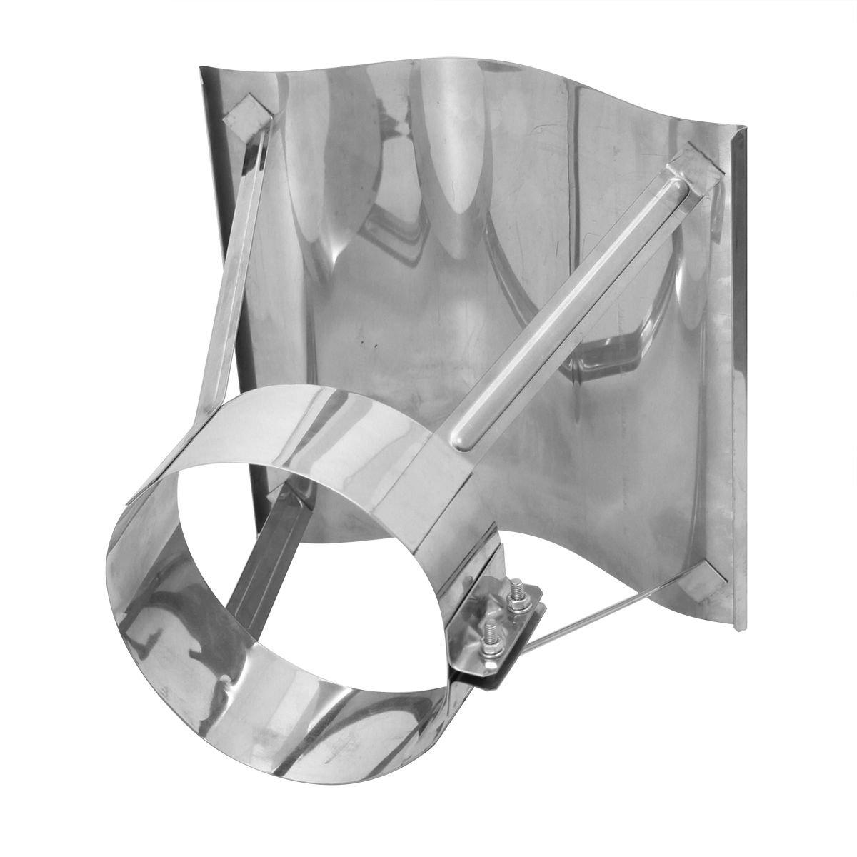 Schornsteinabdeckung Kaminabdeckung Edelstahl, Kaminhaube Regenhaube KLIPPS (180mm)